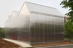 Seoul studio Chae-Pereira Architects, steel frame + translucent plastic panels, arts centre, South Korean city of Gwangmyeong - dezeen