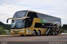 Ônibus da empresa Linhatur Hotel e Turismo, carro 7040, carroceria Comil Campione DD, chassi Scania K400IB 8x2. Foto na cidade de Erechim-RS por Comil Ônibus S.A., publicada em 21/02/2014 12:47:01.