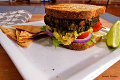 Vegan and gluten free. Mexican spices of cumin, cilantro, chili powder, paprika paired with black beans making this lentil burger amazing!
