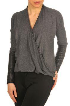 F3021513 DarkGrey Front #LadyDutch Fall Collections, Dark Grey, Pullover, Lady, Sweaters, Tops, Fashion, Moda, La Mode