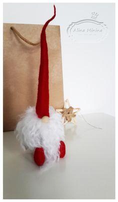 Дед мороз,гном своими руками, handmade, белая борода, новогодний подарок, сувенир, ручная работа Алины Мининой https://vk.com/alinaminina_toys