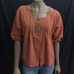 Blu Pepper Blouse Worn once!  ❣Necklace not included❣  A portion of the sales will be donated towards Domestic Violence Awareness.  Blu Pepper Tops
