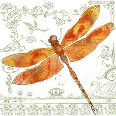 Dragonfly Bliss-JP3446 by Jean Plout