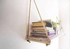 Nábytok - Drevená polička na lankách - 7107874_