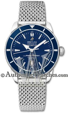 301 - A1732016/C734  NEW BREITLING SUPEROCEAN HERITAGE 46 MENS WATCH IN STOCK   - FREE Overnight Shipping | Lowest Price Guaranteed    - NO SALES TAX (Outside California)- WITH MANUFACTURER SERIAL NUMBERS- Blue Dial - Self Winding Automatic Chronometer Movement- 3 Year Warranty- Guaranteed Authentic- Certificate of Authenticity- Polished Steel Case