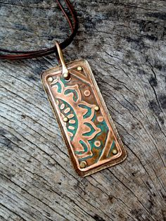 Mixed Metal Mehndi Pendant. $105.00, via Etsy.