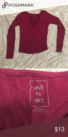 Me to We Tee Perfect condition. Purchased from Pacsun me to we Tops Tees - Long Sleeve