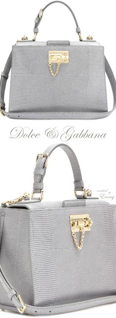 Emmy DE * Dolce & Gabbana Embossed leather shoulder bag