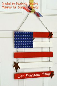 Independence Day Door Flag for Clarks Condensed by Fearlessly Creative Mammas