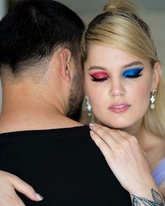 #redmakeup #bluemakeup #makeup #makeuplover #differenteyemakeuplooks #redblue #boldmakeup #colorfulmakeup Red Makeup, Makeup Looks, Red And Blue Make, Colorful Makeup, Make Up, Red Dress Makeup, Make Up Looks, Beauty Makeup, Makeup