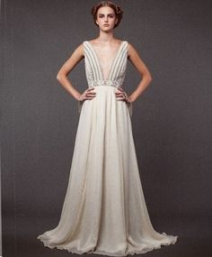 Mara Hoffman Beaded Gown  Perfect (I need to start working out, check out that back - HELLO!)