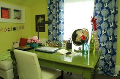"""Jo's """"Highlighter Chic"""" Room Room for Color Contest - http://www.apartmenttherapy.com/jos-highlighter-chic-room-room-for-color-contest-195252"""