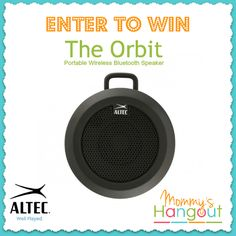 Orbit Portable Wireless Bluetooth Speaker Review & #Giveaway