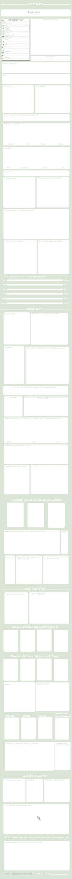 Ultimate OC meme Blank by griffsnuff.deviantart.com on @deviantART - Interesting things to think about.. ouo