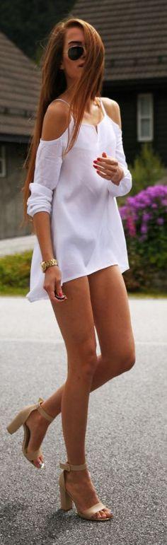 Kristine Ullebo White Little Dress