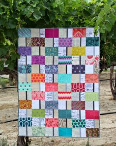 A Quilter's Table: Duo - a postcard quilt