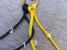 Step one to begin the 4-strand braid.