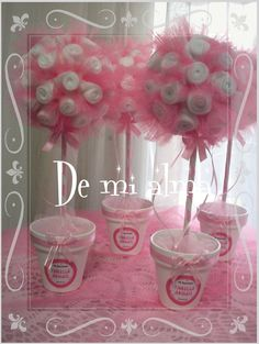 centros de mesa topiarios - Buscar con Google Baby Shower Fun, Boy Shower, Baby Shower Gifts, Baby Gifts, Balloon Flowers, Giant Paper Flowers, Pink Centerpieces, Ballerina Birthday Parties, Sweet Trees