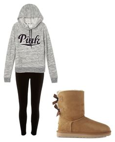 """Untitled #24"" by amyjolie on Polyvore featuring River Island, Victoria's Secret and UGG"