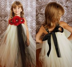 Find More Flower Girl Dresses Information about 2015 Little Girls Pageant Dresses High Neck Tulle With Hand Made Flowers And Bow Floor length Princess Flower Girl Dresses AB48,High Quality tulle embroidery,China tulle roll Suppliers, Cheap tulle sparkle from Suzhou Romantic Wedding Dress Co. Ltd on Aliexpress.com