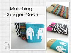 Matching Charger Case for Macbook iPad Chromebook by sewwonder