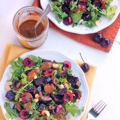 Roasted Beet and Cherry Salad