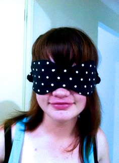 sleep mask with pattern