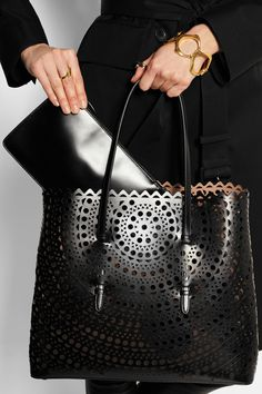 Alaïa | Vienna laser-cut leather tote