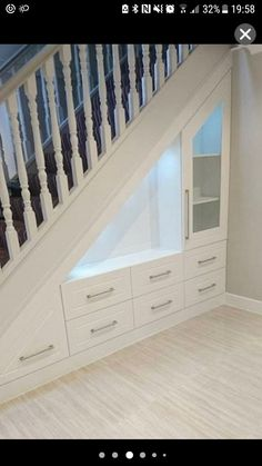 If you are looking for home storage ideas and good exploit for small spaces this article is for you and will give you 20 idea under stairs storage ideas with modern forms useful and practical. Shelves and storage spaces under . Staircase Storage, Space Under Stairs, House Design, Stair Decor, House, Home, Basement Remodeling, Stairs Design, Stairs