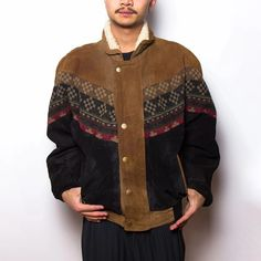 Men's Exotic Single-breasted Printed Color Long Sleeve Jacket – okrobe Unique Fashion, Mens Fashion, Collar Designs, Print Jacket, Single Breasted, Sleeve Styles, Outfit Of The Day, Street Wear, Menswear