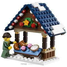 Us 700 Compatible Legoe Creator Expert 10235 Building Blocks Toys For Childrens Bricks Model Winter Village Market Kid Gift Moc In Blocks Lego Christmas Village, Lego Winter Village, Lego Disney, Lego Duplo, Legoland, Design Lego, Legos, Lego Gingerbread House, Lego Mini