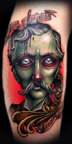 A (Dead) Southern Gent Tattoo by Kelly Doty