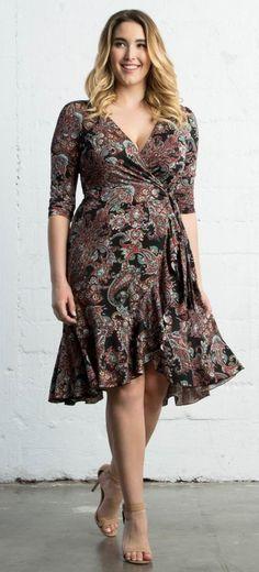 Plus Size Flounce Wrap Dress {affiliate link}