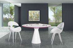 Karim Rashid Kat Table and Chairs Karim Rashid, Table And Chairs, Dining Table, Living Room Decor, Windows, Modern, Portugal, Furniture, Home Decor