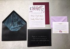 Type A Invitations - DC Wedding Calligraphy #handmade #metallicpaper #custom #calligraphy #invitations