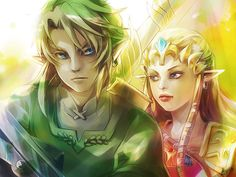 LoZ - Link and Zelda by ~Miyukiko on deviantART