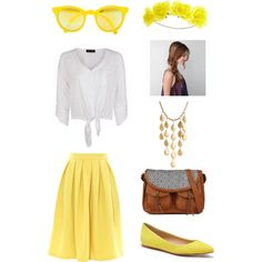 "#JohnHardy #ChandelierNecklace from #JRdunn in ""Yellow Dawn"" by greenblue1010 on Polyvore"