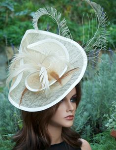 Kentucky Derby Hat Headpiece Fascinator. by AwardDesign on Etsy, $80.00