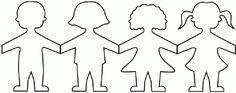 ontwerp slinger kinderen Preschool Kindergarten, Preschool Activities, Preschool Friendship, About Me Activities, Construction Paper Crafts, Diy Garland, Garlands, Relief Society, Pattern Drawing