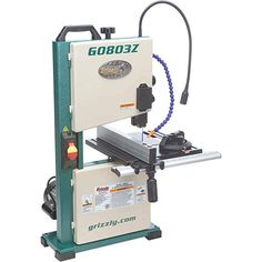 Grizzly Industrial - Benchtop Bandsaw with Laser Guide Machining Process, Technical Documentation, Wood Magazine, Welding Table, Welding Torch, Thing 1, Table Sizes, Low Tables, Extruded Aluminum