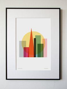Rise and shine San Francisco by honeyandbloom on Etsy, $30.00 - frame wall