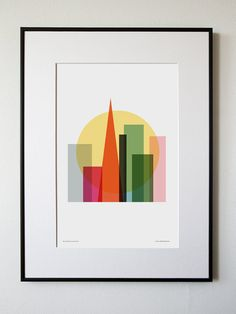 Rise and shine San Francisco by honeyandbloom on Etsy, $30.00 - frame wall