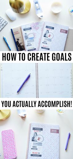 (ad) How to Create Goals You Actually Accomplish using your @ataglance planner! #MyAAG #IC