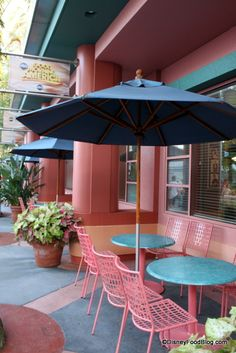 Outside seating  ABC commissary