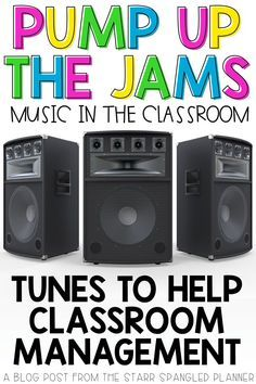 Looking for ways to incorporate music in the classroom? This post is full of great ideas for songs, playlists, and ways to integrate music into your daily teaching routines. Whether to help with classroom management and transitions, or just for fun, this 4th Grade Classroom, Classroom Behavior, Classroom Community, Classroom Setup, Future Classroom, Classroom Organization, Music For The Classroom, Classroom Language, Preschool Classroom Management