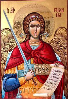 Orthodox Catholic, Orthodox Christianity, Religious Icons, Religious Art, Byzantine Art, Orthodox Icons, St Michael, Jesus Christ, Ikon