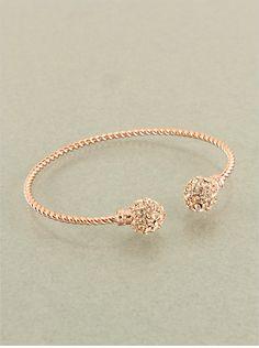 Diamond Drops Austrian Crystal RoseGold Bracelet
