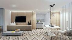 Sala de Estar e Jantar: Salas de estar escandinavas por fpr Studio