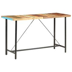 Desks | Keen Wooden Bar Table, Table Bar, Dining Table, Table Haute Bar, Breakfast Bar Table, Garden Side Table, Outdoor Tables, Table And Chair Sets, Dining Room Furniture