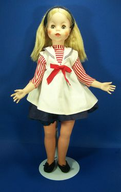 Vintage Eegee Doll Puppetrina 1963 Sailor Outfit Sleepy Eyes Rooted Hair #Eegee